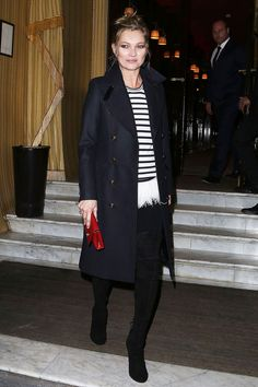 London Look - Atailored longline coat over smart separates makes for an easy wayto channel It Brit style.