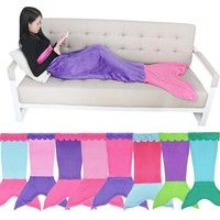 Set Include: 1pc Mermaid Blanket Condition: New without tag Material: Fleece Features:  Super cozy c