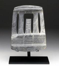 Early Mezcala Stone Temple Pre-Columbian, Guerrero, Mexico, Mezcala culture, ca. 400 - 100 BCE.