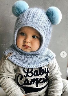 This Pin Was Discovered By Марина Малина - Diy Crafts - Bobcik - Diy Crafts Finger Knitting Projects, Diy Crafts Knitting, Diy Crafts Crochet, Baby Hats Knitting, Knitted Hats, Kids Poncho Pattern, Baby Winter Hats, Knitting Machine Patterns, Crochet Baby