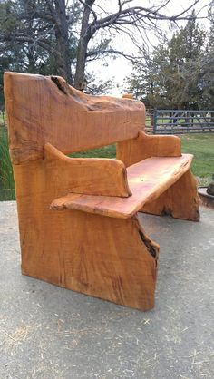Live Edge Bench - live edge wood slabs available at http://www.BerkshireProducts.com