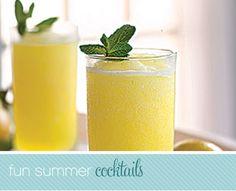 Frozen vodka slushy--with pineapple juice, oranges, lemon, lemonade, and grapefruit juice.  Perfect for hot weather.