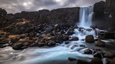 Oxararfoss waterfall - Thingvellir Iceland - Travel photography by pixael More Pictures, Most Beautiful Pictures, Nature Photography, Travel Photography, Water Effect, Iceland Travel, Photos Of The Week, Landscape Photographers, Beautiful Landscapes