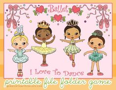Ballet Printable File Folder Game