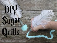 DIY Harry Potter Sugar Quills!!! Super easy.