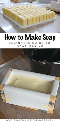 How to Make Soap ~ Soap Making for Beginners Soap Making Recipes, Homemade Soap Recipes, Making Bar Soap, Homemade Soap Bars, Crafting Recipes, Fun Recipes, Homemade Gifts, Homemade Cards, Soap Molds