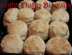 """Fluffy Biscuits #biscuits Delicious light, fluffy, buttery homemade biscuits. My son said they're """"Off the Chain!"""""""