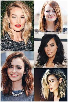 just found - como lidar - cabelo long bob - corte medio - inspiracoes - famosas - lily collins - emma stone - kim kardashian - hilary duff - rosie huntington-whiteley