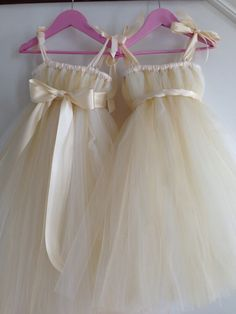 Champagne flower girl dress NB4T by HadandHarps on Etsy, $55.00