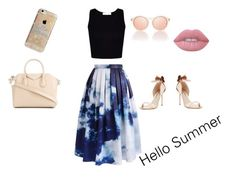 """""""Hello Summer"""" by matildamay232 ❤ liked on Polyvore featuring Chicwish, Sophia Webster, Givenchy, Lime Crime, Le Specs and Agent 18"""