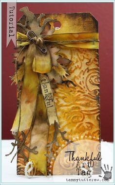 Tammy Tutterow Tutorial | Thankful Art Tag