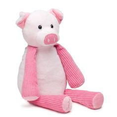 I think Katy would love to have a pink pig to snuggle with. I think I would put a vanilla cream scent pak inside.
