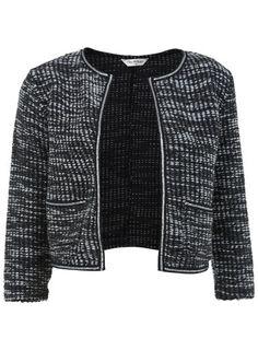 Black and White Boucle Jacket
