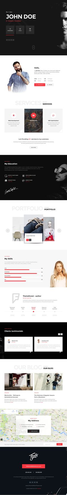 Narayana - One Page HTML5 Responsive Template Template for - resume portfolio template