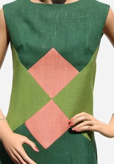 Historically Modern: Quilts, Textiles & Design: Color Fashion: The Wright Combination 60s And 70s Fashion, Mod Fashion, Colorful Fashion, Vintage Fashion, Robes Vintage, Vintage Dresses 1960s, Vintage Outfits, Linen Dresses, Pattern Blocks