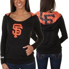 San Francisco Giants Ladies Sublime Knit Hoodie - Black