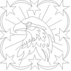 Shop | Category: Americana | Product: 8 ptd Eagle Star Blk...free digital download from Wasatch Quilting.