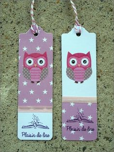 DSCN1696 copie Bookmark Craft, Diy Bookmarks, Diy Marque Page, Book Crafts, Paper Crafts, Book Maker, Animal Crafts For Kids, Owl Punch, Lectures