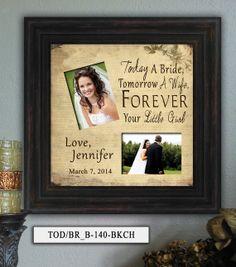 Personalized Wedding Photo Frame TOD_BR_B  by PhotoFrameKeepsakes, $69.00