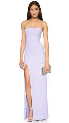 ed017f114 $695 Elizabeth and James Thistle Purple Seiler Gown Deep Side Slit 8 Dress  E561 #ElizabethandJames