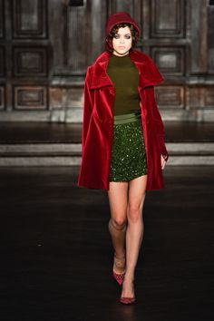 L'Wren Scott. I love that L'Wren Scott can make a mod look combining these colors without making it look like Christmas.