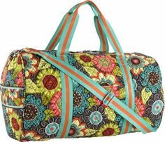 Vera Bradley Round Duffel Flower Shower - via eBags.com!  I like this new 2014 style and pattern the best.