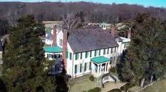 Aerial footage of Gari Melchers Home & Studio by PRMI.