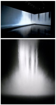 Hiroshi Senju - Waterfall (2009) - Natural pigments on Japanese mulberry paper