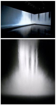 Hiroshi Senju - Waterfall (2009) - Natural pigments on Japanese mulberry paper