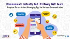 Xgen IM - An Easy And Secure Instant Messaging App for Business Communication. Instant Messaging, Emoticon, First World, Communication, Messages, Business, Enterprise Application Integration, Smiley, Text Posts