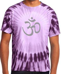 Yoga Clothing for You Mens Aum Tie Dye Tee Shirt