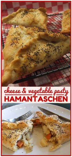 A delicious vegetarian pasty transformed into a savoury Purim delicacy! Filled with veggies & cheese, these tasty treats are a lovely light meal or snack, and are perfect for lunch boxes too. (Make them regular pasty shape the rest of the year!)