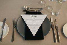 Real Wedding – Sonia & Michael - Table Setting - Personalised Printed Menu
