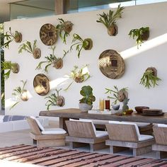 """Gallery wall meets garden wall. #greatideas | Photo by @williamwaldronphoto, design by Kelly Behun"""