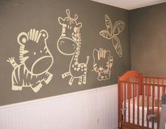 Unos tiernos animales le darán a la habitación de tu bebé un toque muy especial.