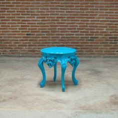 this is what im trying to start doing,finding and painting cool furnature from yard sales/thrift stores...Side Table Blue now featured on Fab.