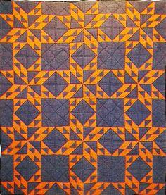 Civil War Quilts: Stars in a Time Warp 4: Chrome Orange or Cheddar