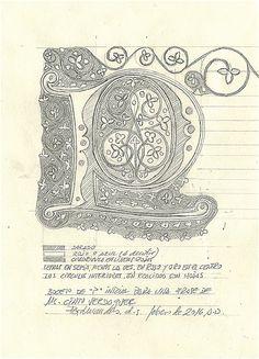 Boceto para una P. Para un poema de Mn. Cinto Verdaguer.