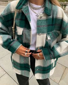 PAQOZ Women Daily Casual Long Sleeve Cardigan Striped Loose Jacket Outwear Coat