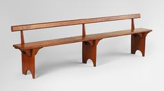 Shaker Bench, 1825–50  was used with the community dining table. Hancock, Massachusetts.  Pine