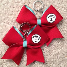 Thing 1 & Thing 2 Cheer Bow Keychain Set