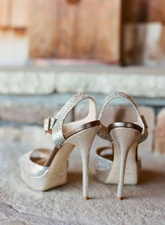 Pin for Later: 41 Smart Ideas For Gorgeous Wedding Detail Shots 1. Shoes From Behind