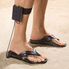 Metal detector sandals! It doesn't get much better than this!