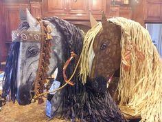 3-d cardboard horse head
