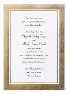 'Gilded Linen' by Invitation Consultants Invitation Envelopes, Wedding Invitation Wording, Elegant Invitations, Marriage Cards, Reception Card, How Do I Get, Forever Love, Elegant Wedding, Thank You Cards