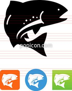 Vector Trout Icon - Illustration from Popicon Fish Logo, Web Design Projects, Outdoor Recreation, Trout, Vector Icons, Metal Art, Illustration, Image, Fishing