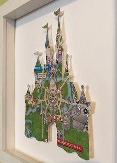 Disney Map, Casa Disney, Disney Merch, Disney Sign, Disney House, Disney Wall Art, Disney Wishes, Disney Souvenirs, Disney Kitchen Decor