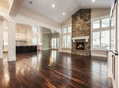 Living room, open kitchen, kitchen colors, windows
