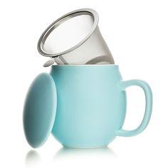 Porcelanowy kubek herbaciany 350ml, niebieski