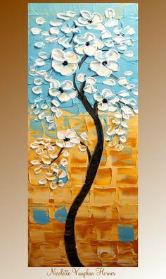 Original Impasto painting landscape trees abstract by by artmod, $199.00